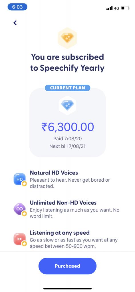Speechify price